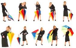 Jong meisje met paraplu stock afbeeldingen