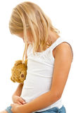 Jong meisje met teddybeer Royalty-vrije Stock Afbeeldingen