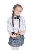 jong meisje met vlechten Royalty-vrije Stock Afbeelding