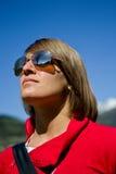 Jong meisje met zonnebril Stock Fotografie