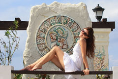 Jong meisje in Mexico Stock Afbeelding