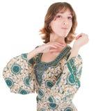 Jong meisje in oostelijke kleding stock fotografie