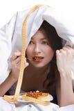 Jong meisje op dieet Stock Afbeeldingen