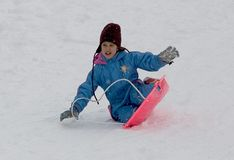 Jong meisje op een ar Stock Fotografie