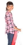 Jong Meisje op een Ladder VI stock foto