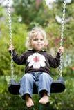 Jong meisje op een swin Royalty-vrije Stock Foto's