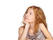 Jong meisje op Wit Stock Afbeelding