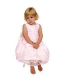 Jong Meisje in Roze Stock Afbeelding