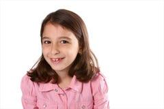 Jong Meisje in Roze Overhemd royalty-vrije stock foto's