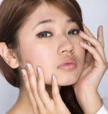Jong meisje - schoonheidsgelaatsuitdrukking Royalty-vrije Stock Afbeelding