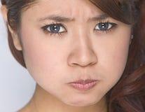 Jong meisje - schoonheidsgelaatsuitdrukking Stock Foto's