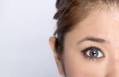Jong meisje - schoonheidsgelaatsuitdrukking Royalty-vrije Stock Fotografie
