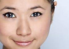 Jong meisje - schoonheidsgelaatsuitdrukking Royalty-vrije Stock Foto's