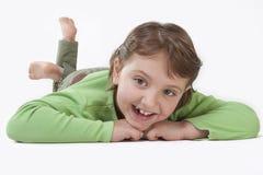 Jong meisje in studio Stock Fotografie