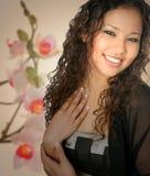Jong meisje van het mengelingsbehoren tot een bepaald ras Stock Fotografie