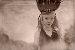 Jong meisjeshoofddeksel Royalty-vrije Stock Afbeeldingen