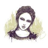 Jong meisjesportret Stock Afbeelding