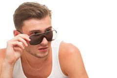 Jong model in zonnebril Stock Afbeeldingen