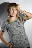 Jong modelstudioschot Stock Foto
