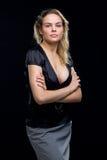 Jong mooi blond Kaukasisch meisje royalty-vrije stock fotografie