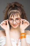 Jong mooi meisjesportret stock foto's