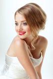 Jong mooi sexy blonde met modieuze samenstelling Royalty-vrije Stock Afbeeldingen