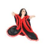 Jong mooi vrouw het dansen flamenco over w Stock Fotografie