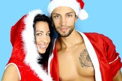 Jong paar bij Kerstmis Royalty-vrije Stock Fotografie