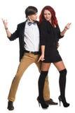 Jong paar, de stijl van de glamourmode royalty-vrije stock afbeelding