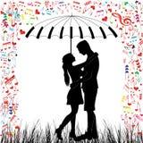 Jong Paar in liefde royalty-vrije illustratie
