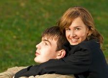 Jong paar in liefde Stock Foto