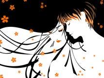 Jong paar, liefde, jongen en meisje vector illustratie