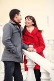 Jong paar in liefde openlucht Stock Foto's