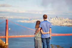 Jong paar in San Francisco, Californië, de V.S. Royalty-vrije Stock Afbeeldingen