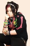 Jong punkmeisje 2. Royalty-vrije Stock Afbeeldingen
