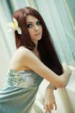 Jong slank vrouwenportret Stock Foto