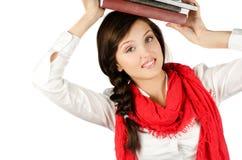 Jong studentenmeisje stock foto's