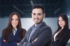 Jong team van zaken stock foto