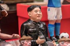 Jong-un de Kim, estatueta famosa nas nucas imagens de stock