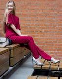 Jong vrij blond meisje Stock Foto's