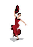Jong vrouw het dansen flamenco Stock Foto