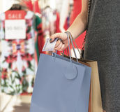 Jong Vrouw het Winkelen Concept Van de consument royalty-vrije stock fotografie
