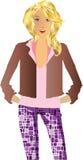Jong vrouwenmodel vector illustratie