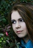 Jong vrouwenportret stock foto's