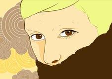 Jong vrouwenportret vector illustratie