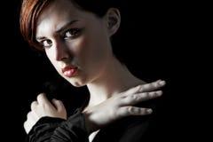 Jong vrouwenportret Royalty-vrije Stock Foto