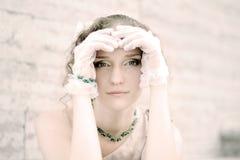 Jong vrouwenportret Stock Foto