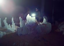 Jong wijfje caver royalty-vrije stock foto