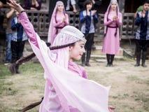 Jong Wijnfestival in Tbilisi stock afbeeldingen