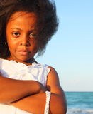 Jong zwart meisje Stock Afbeeldingen